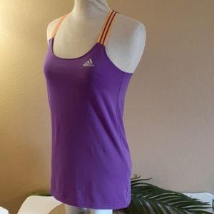 💜 Adidas 💜 purple activewear tank top XS